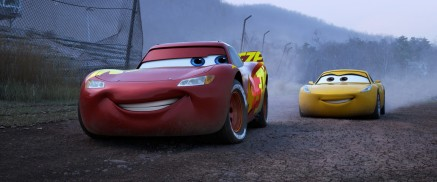 "ROAD TO VICTORY — When faced with a new generation of racers who threaten to derail his career, Lightning McQueen (voice of Owen Wilson) teams up with tech-savvy, unconventional trainer Cruz Ramirez (voice of Cristela Alonzo) to find his way back to the top. Directed by Brian Fee, produced by Kevin Reher and co-produced by Andrea Warren, Disney•Pixar's ""Cars 3"" opens in U.S. theaters on June 16, 2017. ©2017 Disney•Pixar. All Rights Reserved."