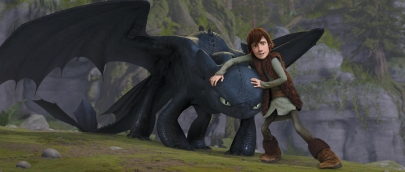 Hiccup (JAY BARUCHEL) befriends Toothless, an injured Night Fury?the rarest dragon of all?in DreamWorks Animation?s ?How to Train Your Dragon,? releasing March 26, 2010.
