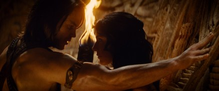 """JOHN CARTER"" L to R: John Carter (Taylor Kitsch), Dejah Thoris (Lynn Collins) ©2011 Disney. JOHN CARTER™ ERB, Inc."