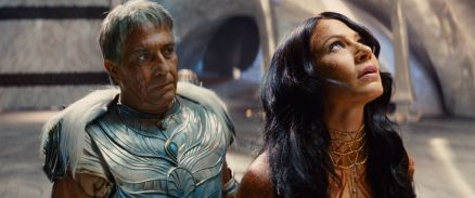 """JOHN CARTER"" L to R: Tardos Mors (Ciarán Hinds), Dejah Thoris (Lynn Collins) ©2011 Disney. JOHN CARTER™ ERB, Inc."